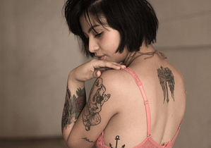 lady with tattoos