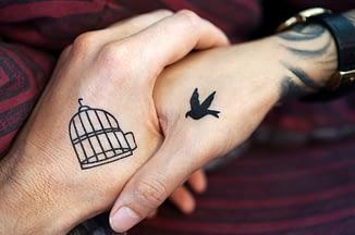 couple goals, cute tattoo